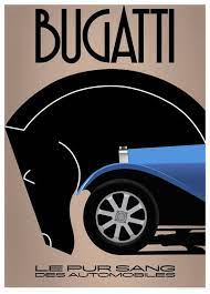 There are only five units of this limited edition. Bugatti Le Pur Sang Des Automobiles Poster Art Deco Posters Art Deco Illustration Vintage Posters