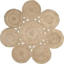 4 x hand woven round rug in natural nuloom rugs flokati reviews