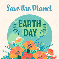 Earth Day Vector Template For Card Poster Banner Flyer