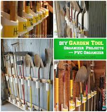diy pvc garden tool organizer instructions garden tool organizer diy ideas projects
