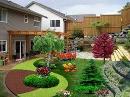 Exterior : Small Backyard Landscape Design Ideas Delectable Cool ...
