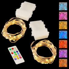 Mini String Lights Battery Operated Lumabase 50 Light Battery Operated Mini String Wire Led Lights In Multi Color With Multi Function Remote Control 2 Pack