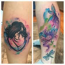 A Mothers Love Watercolour Tattoo Level Up Tattoo Studio