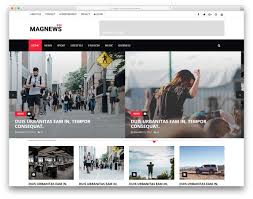 Newspaper Web Template Free Magnews Free Online Magazine News Website Template Colorlib