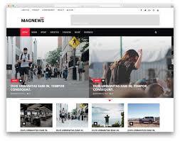 Website Template Newspaper Most Popular Free Magazine News Website Templates 2019