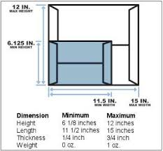 Large Envelope Size Requirements For 0 94 Postage Rate