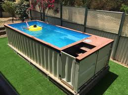 over the last several years shipping containers have become very popular in world of architecture although there was once a time when these large met container swimming pool v87