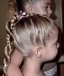 Little Girl\u0027s Hairstyles: Easy Twist Around Braided Ponytail 10 15 ...
