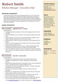Doc, pdf, txt or read online from scribd. Executive Chef Resume Samples Qwikresume