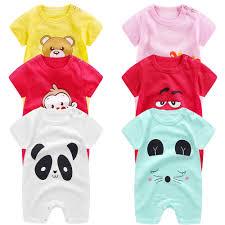 <b>baby clothes</b> 100% cotton short sleeve summer girls <b>boys rompers</b> ...