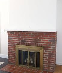 mantel painting our red brick fireplace white diy fireplaces mantels living room ideas intended white fireplace mantel with red brick hometalk