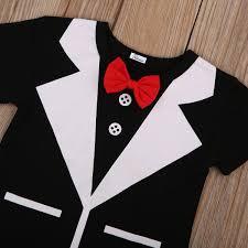 Neugeborenes Baby Hochzeit Bowtie Gentleman 2 Stücke Outfits ...