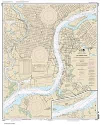 12313 Delaware River Philadelphia And Camden Waterfronts Nautical Chart