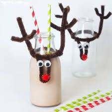 diy reusable reindeer bottle toppers make bottles fun and festive pop them on your