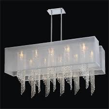 large rectangular chandelier double rectangular shade chandelier spiral crystal