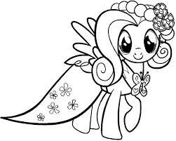 Small Picture My Little Pony Fluttershy Wear Dresses My Little Pony Coloring