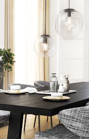 Beacon Lighting Cairns Marcel 400mm Pendant In Clear Black Black Pendant Light