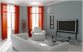 Orange Decorating For Living Room Cream Living Room Curtains Living Room Exciting Picture Of Modern