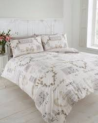 Light Beige and Natural Colour Time to Sleep Double Duvet Quilt ... & PURE DUVET COVER SET LOVE HEARTS FLOWERS TRADITIONAL VINTAGE BEIGE TIME  CLOCK Adamdwight.com