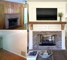 fireplace renovation converting a single sided fireplace to a