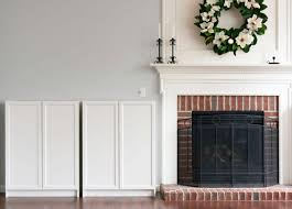 white ikea billy bookcase fireplace built in storage