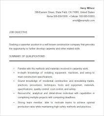 Carpenter Resume 10 For Free Download Techtrontechnologies Com