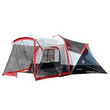 the tahoe gear zion 9 person 3 season camping tent and screen porch is designed to be the ideal tent for families complete with a large attached screen