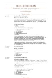 Customer Service Manager Resume samples