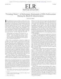 Pdf Treading Water A Preliminary Assessment Of Epa