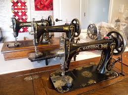 National 2 Spool Sewing Machine For Sale