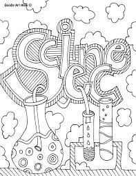 Science Project Title Page Subject Cover Pages Coloring Pages Classroom Doodles