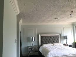 glue up ceiling tiles these glue up ceiling tiles look amazing in this master bedroom styrofoam glue up ceiling tiles canada