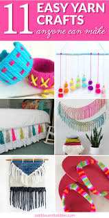 11 easy yarn crafts any can make