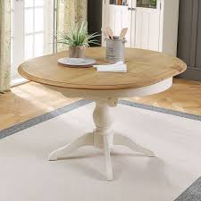 sworth cream painted round extending dining table 4 to 6 seater the furniture market