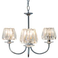 capri 3 light chandelier with glass shades view large