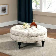 tufted round ottoman coffee table round upholstered coffee table medium size of coffee ottoman coffee table tufted round