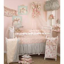 cotton tale designs tea party fl 4 piece crib bedding set