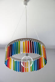 colorful chandelier made from test s
