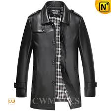 leather trench coat for men cw816024 cwmalls com