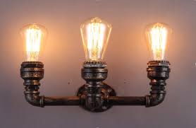 wall track lighting. Pipe Track Lighting Wall Sconce
