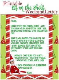 Printable Elf on the Shelf Wel e Letter 500x675
