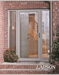 Larson Storm Door Size Chart Adding A Larson Storm Door With Decorative Glass Detailing