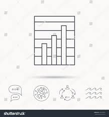 Chart Chat Connect Chart Icon Graph Diagram Sign Demand Stock Vector Royalty