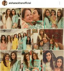 ayesha khan shares pictures of her family