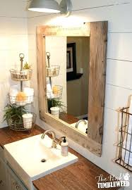 wooden bathroom mirrors. Mirror Bathroom Wood Pallet Frame Wooden Cabinet Mirrors