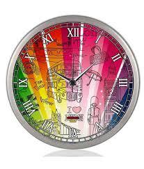 colorsaga multi steel wall clocks
