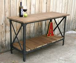 wrought iron and wood furniture. Wrought Iron Kitchen Table New Industrial Wood Furniture Metal And Photos E
