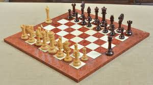 Old Wooden Board Games of Repro Old Antique Edinburgh Upright Chess Pieces in Bud Rose 50