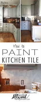 pin it how to paint kitchen tile