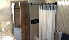diy shower curtain rod for clawfoot tub ring parts with enclosure always bathrooms pretty beyond plastic